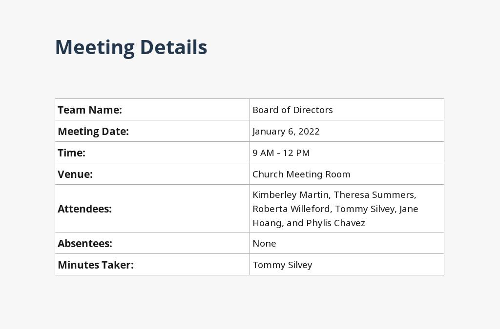 Church Board Of Directors Meeting Minutes Template 1.jpe