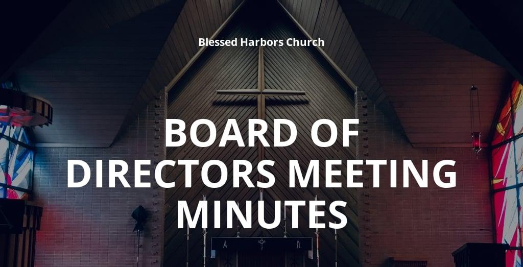 Church Board Of Directors Meeting Minutes Template.jpe