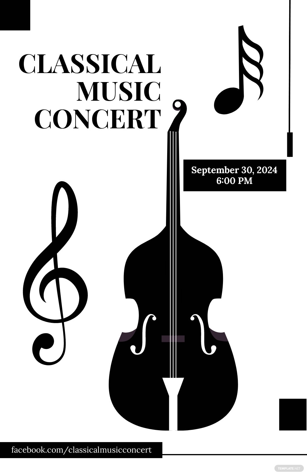 Classical Music Concert Poster Template