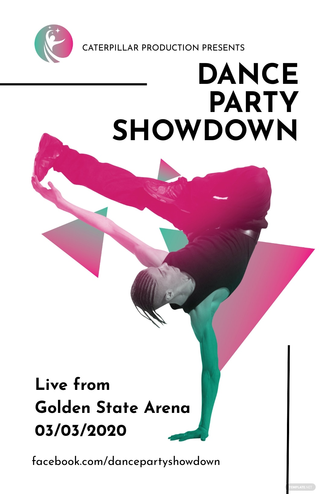 Dance Party Poster Template
