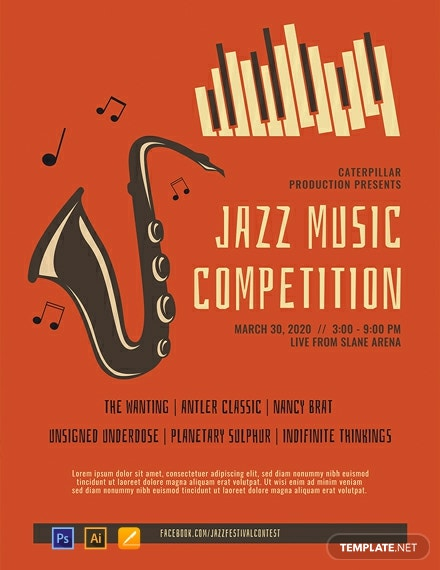 Free Jazz Music Poster Template