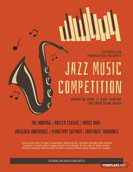 Jazz Music Poster Template