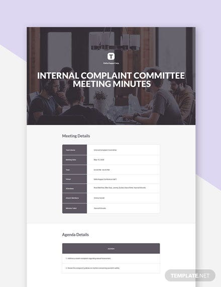 Internal Complaint Committee Meeting Minutes