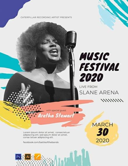 Music Festival Concert Poster Template