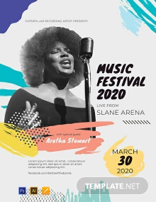 Free Music Festival Concert Poster Template