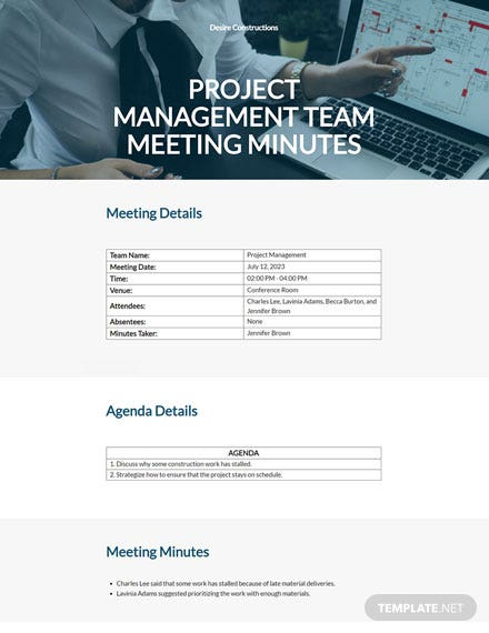 Management Team Meeting Minutes Template