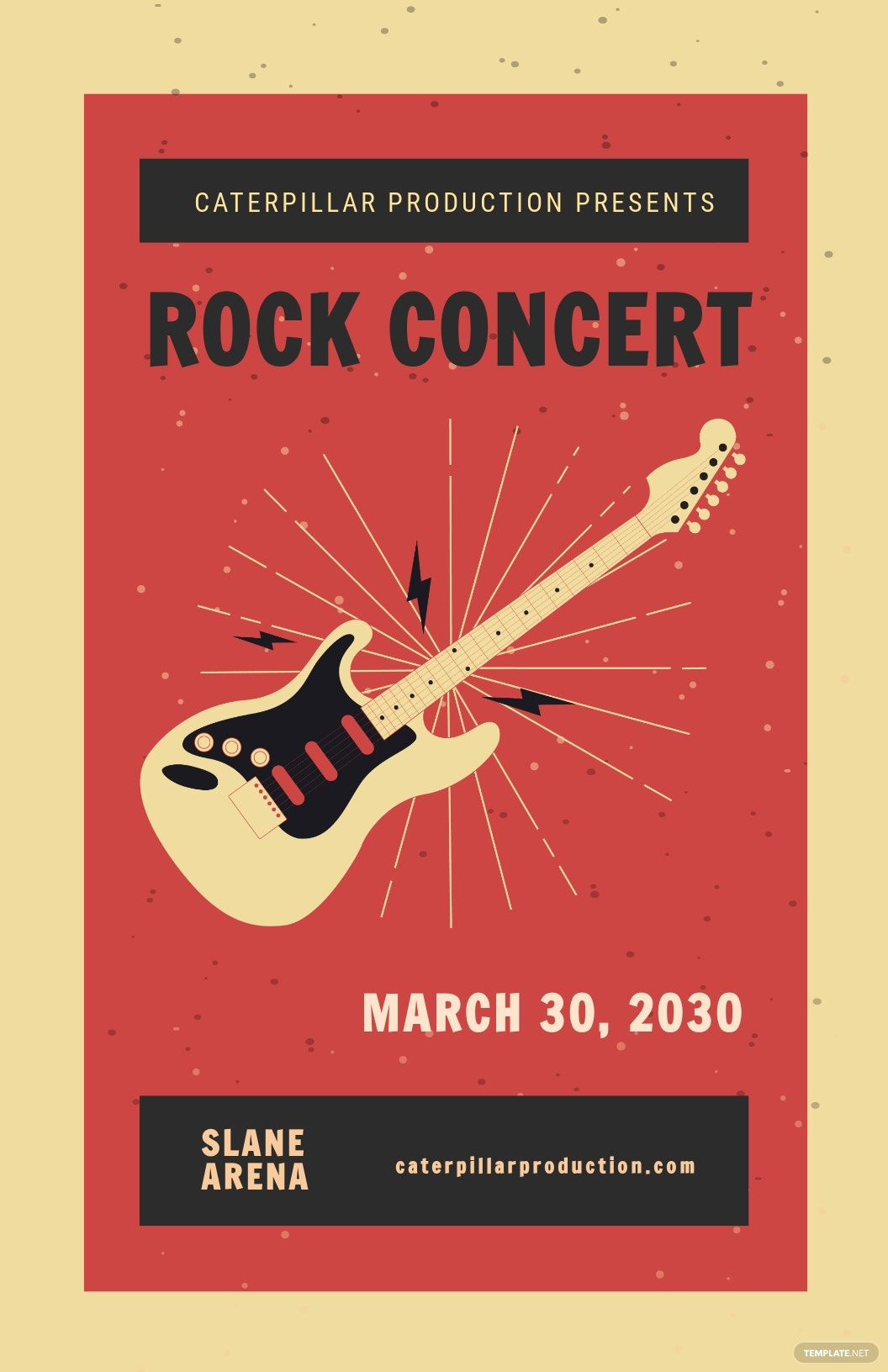 Live Rock Concert Poster Template