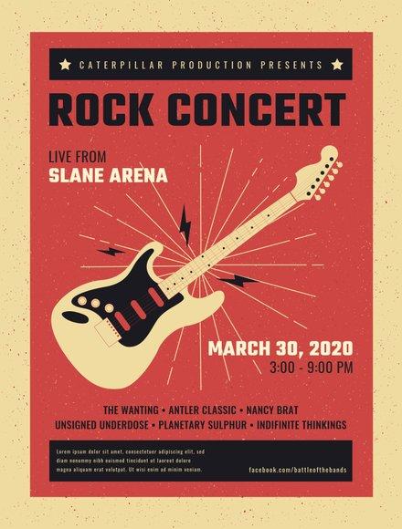Live Rock Concert Poster Template