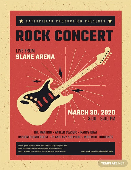 free live rock concert poster template download 96 posters in psd