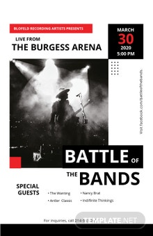 Free Live Concert Poster Template