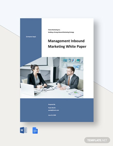 Management Inbound Marketing White Paper Template