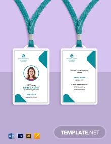 Pharmacy School ID Card Template