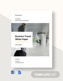 Business Travel White Paper Template