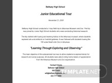 Free Field Trip Report Template