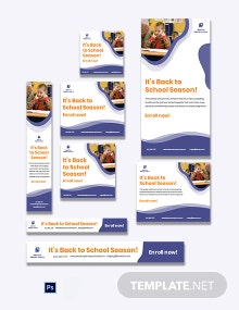 Back to School Banner Ad Template