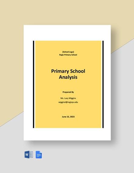 Primary School Analysis Template