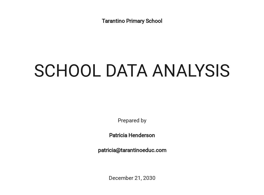 Editable School Data Analysis Template