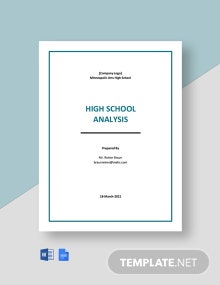 Editable Free High School Analysis Template