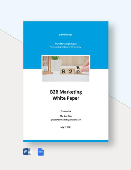 B2B Marketing White Paper Template