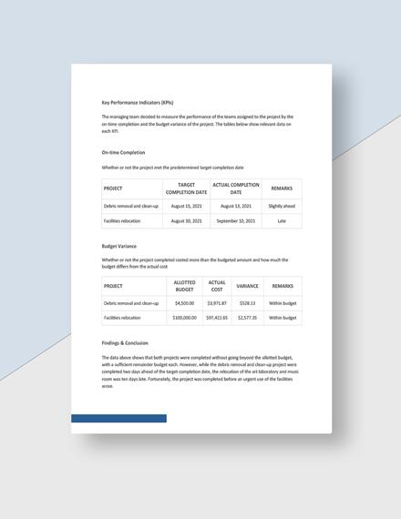 School Visit Report Download