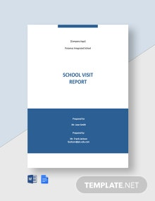 School Visit Report Template
