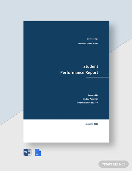 Student Performance Report Template