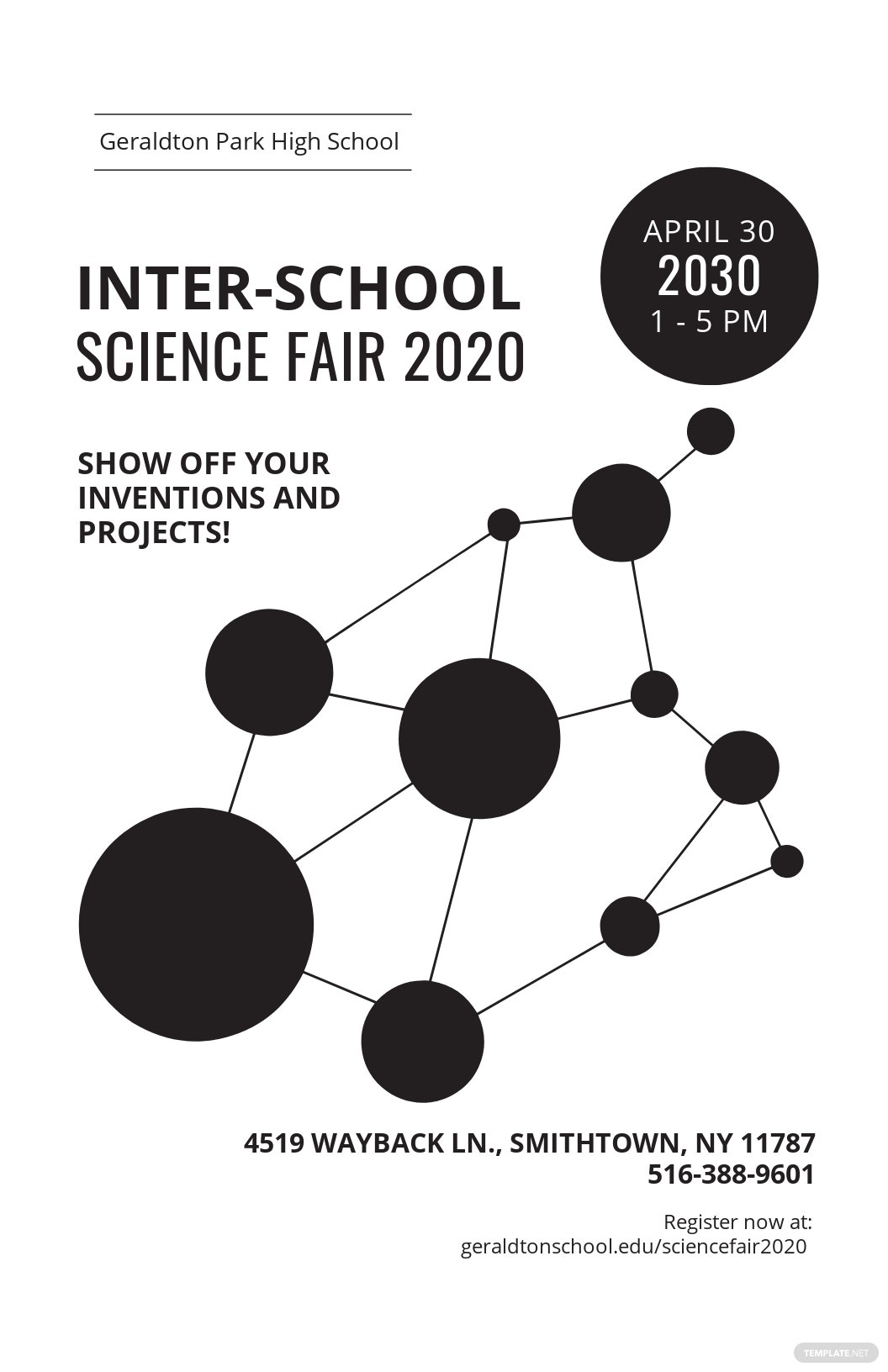 Free Science Fair Event Poster Template.jpe