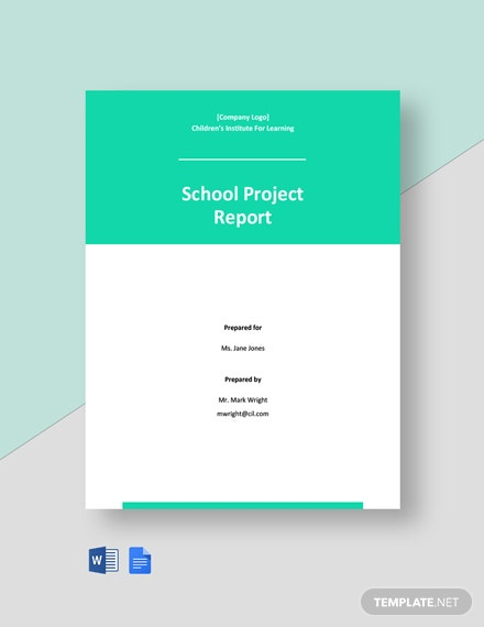 School Project Report Template