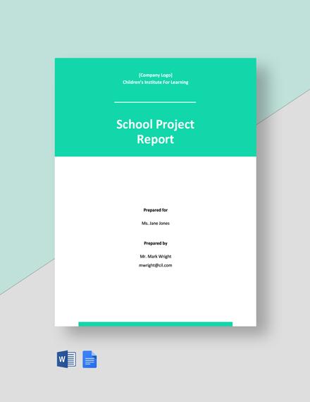 School Project Report Template