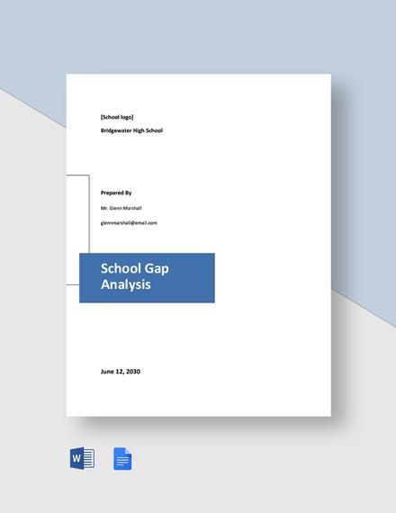 School Gap Analysis Template