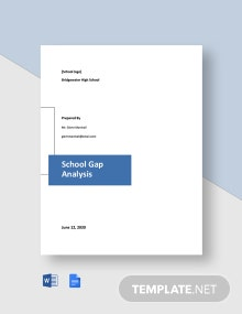 School Gap Analysis Template