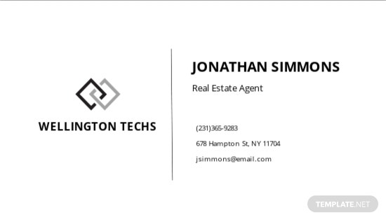 Blank Business Card Template [Free JPG] - Illustrator, Word, Apple Pages, PSD, Publisher