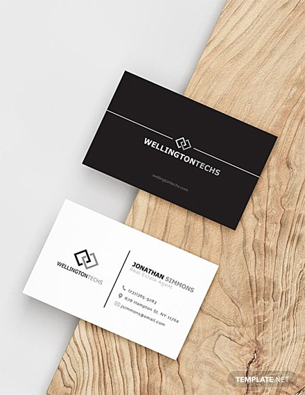 Free Blank Business Card Template