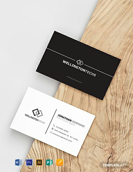 FREE Blank Business Card Template - Word | PSD | Apple Pages