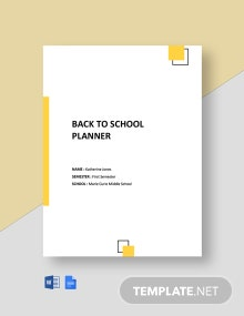 Back to School Planner Template