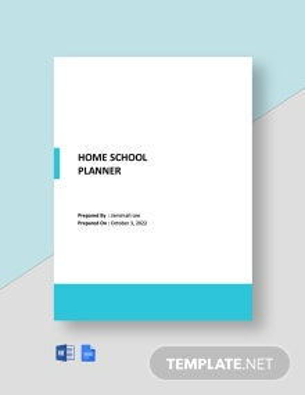 Home school Planner Template