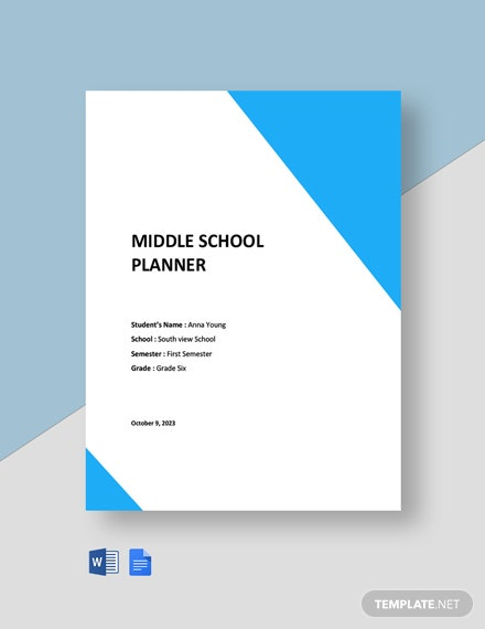 Middle School Planner Template