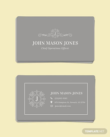 Free business card templates download ready made template elegant business card template reheart Choice Image