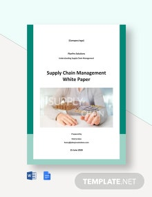 Supply Chain Management White Paper Template