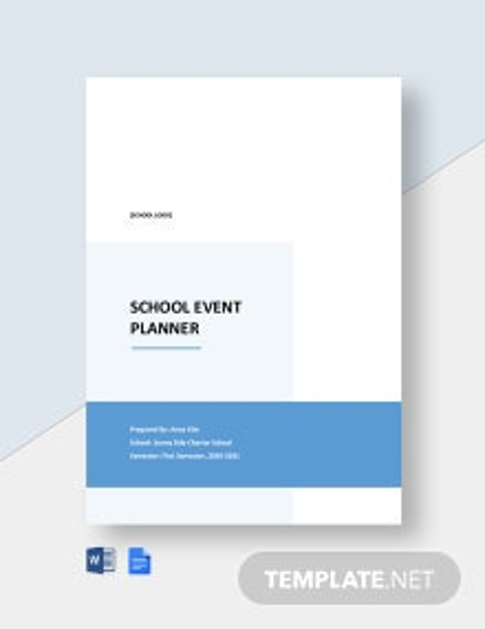 School Event Planner Template