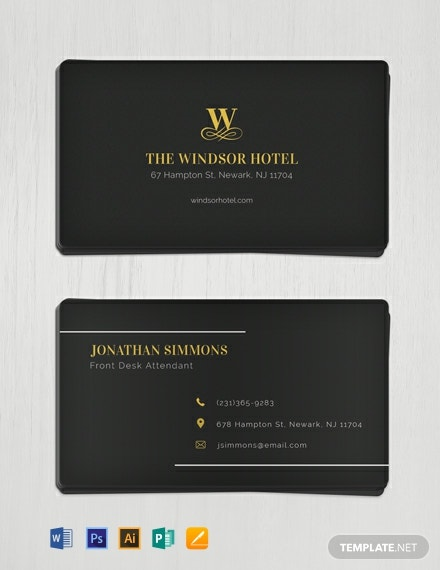 Free Minimal Business Card Template