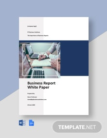 Business Report White Paper Template