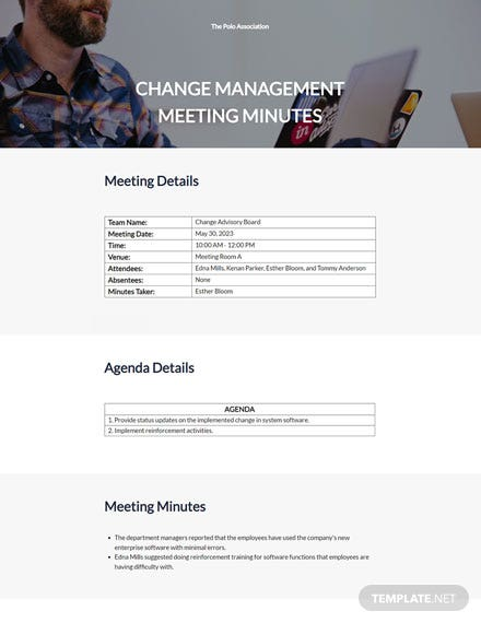Change Management Meeting Minutes Template