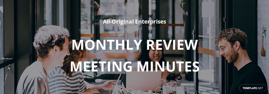 Monthly Review Meeting Minutes Template