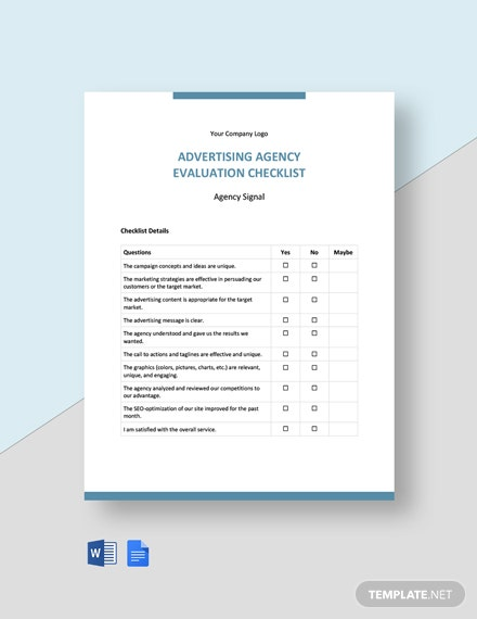 Advertising Agency Evaluation Checklist