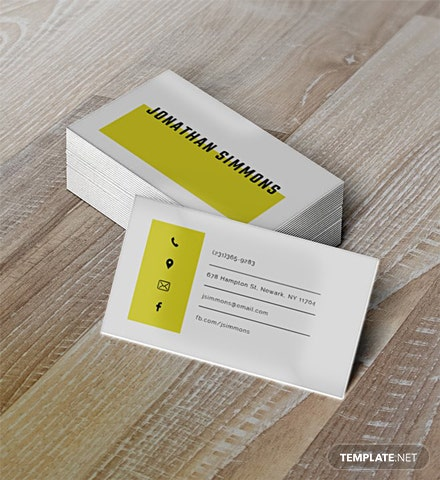 Free Simple Business Card Template