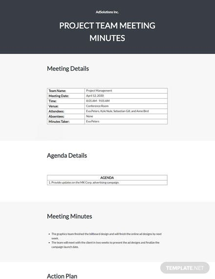 Formal Advertising Agency Meeting Minutes