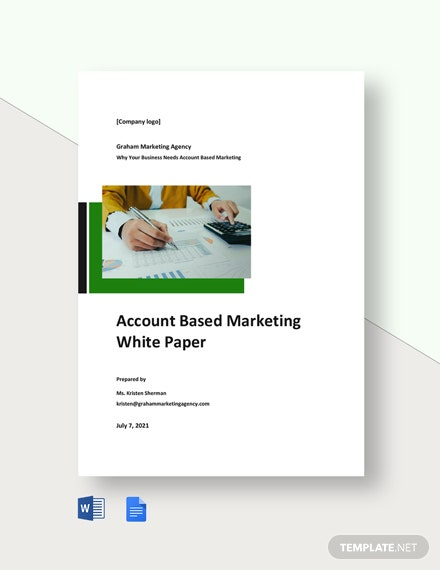 Account Based Marketing White Paper Template