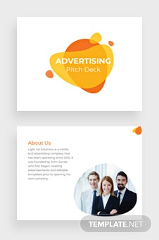 Advertising Pitch Deck Template