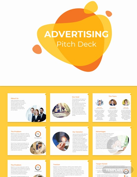 Free Advertising Pitch Deck Template